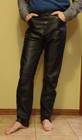 Skórzane spodnie motocyklowe męskie