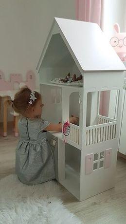 duży domek dla lalek barbie drewniany z tarasem i schodkami PRODUCENT