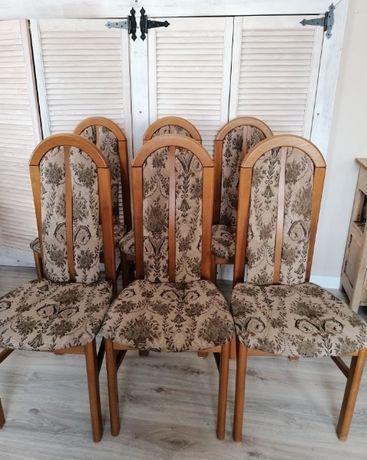 Krzesła tapicerowane 6 szt