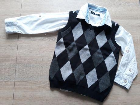 Koszula i kamizelka. Galowa elegancji. Rozmiar 92-98