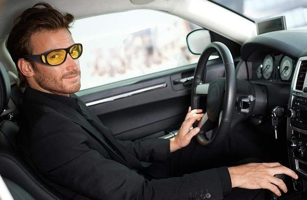 Антибликовые очки для водителей HD Vision Wrap Arounds 2 пары