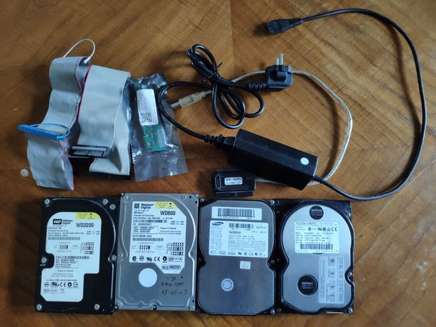 Discos IDE 3.5 320GB 80GB 20GB 6GB + Adaptador USB com alimentação