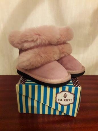 Buty . ocieplane dziecięce botki śniegowce z futerkiem różowe