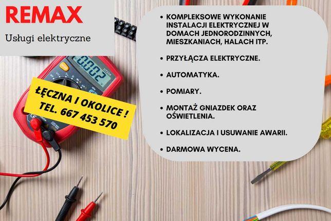 REMAX - Usługi elektryczne ! Elektryk, Instalacje elektryczne.