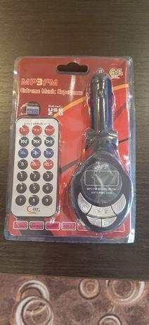 Do sprzedania NOWY Transmiter FM USB AUX 2 × KARTA PAMIĘCI + Pilot