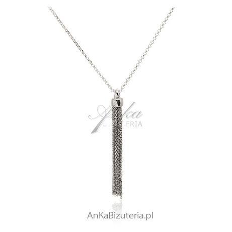 ankabizuteria.pl srebrny naszyjnik meski Długi naszyjnik srebrny nasz