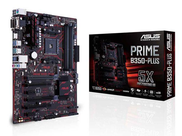 Материнская плата Asus Prime B350-Plus (sAM4, AMD B350, PCI-Ex16)