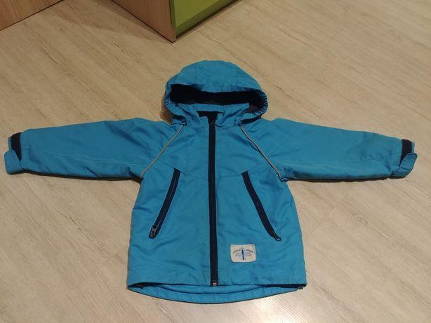 Niebieska kurtka z odpinanym kapturem. Rozm. 92