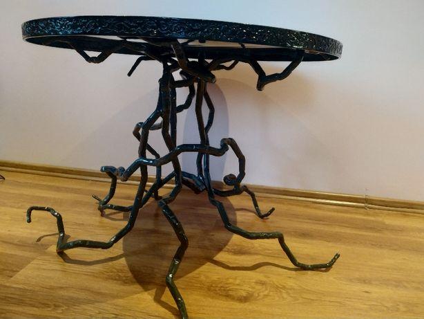 Stół kuty, stolik kawowy artdecor, rękodzieło, niepowtarzalny design