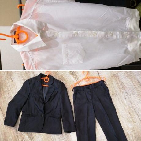 Классический костюм, школьная форма + тениска 3в1, брюки, пиджак