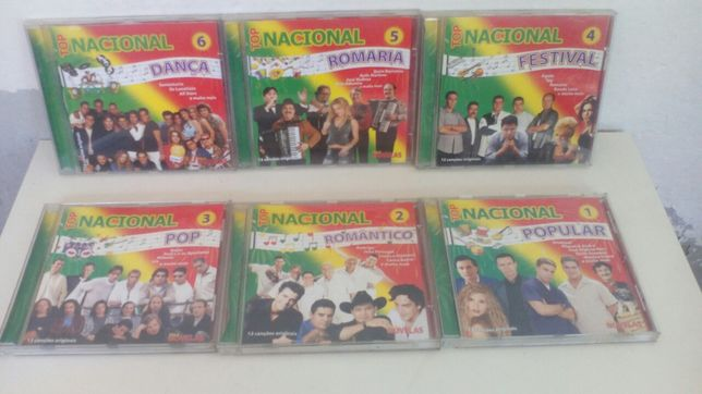 "6 CDS originais ""Top Nacional"""