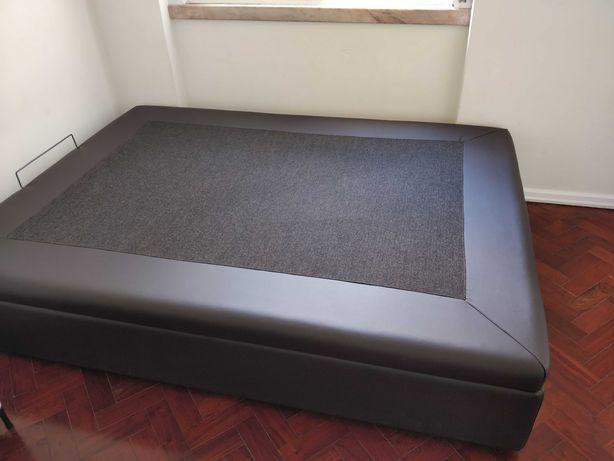 Colchão e estrutura de cama - 190 x 140 - cama de casal Bed & mattress