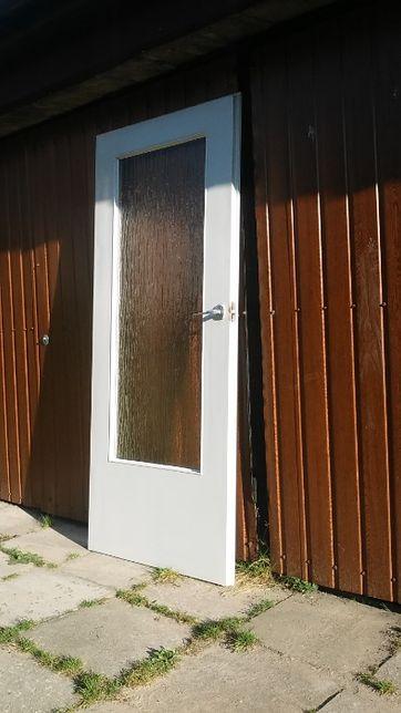 Drzwi wewnętrzne białe 80 drewniane w bdb stanie-OKAZJA!!!