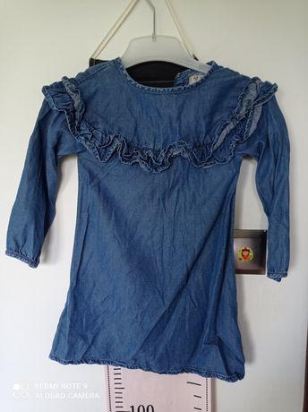 Next sukienka z falbana 98-104 cm 3-4 lata