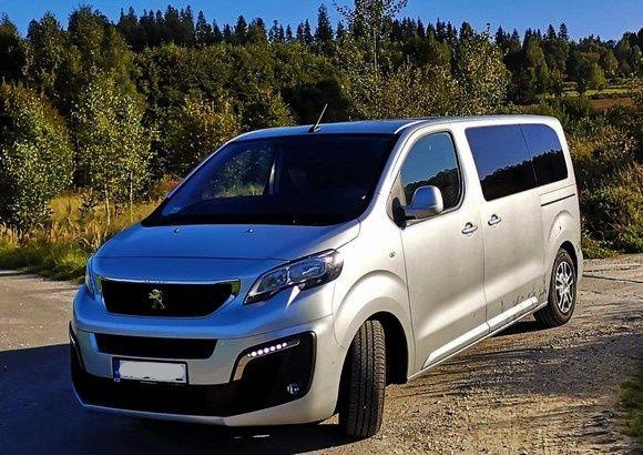 Wypożyczalnia Wynajem Busa 8os. Peugeot Traveller Business 2019r