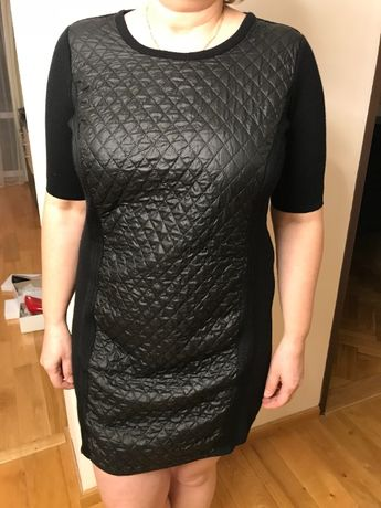 Czarna sukienka dzianinowa TAIFUN 44 NOWA