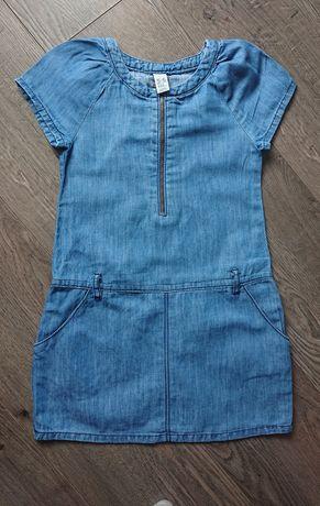 Sukienka zara jeansowa jeans, jak nowa, r. 116