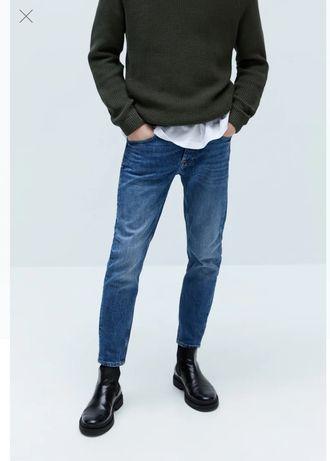 Zara man оригинал! Джинсы новые мужские крутые размер 42 зауженные
