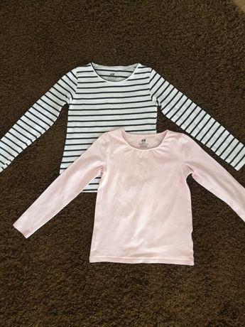 Bluzka z długim rękawem, bluzeczka, koszulka, dziewczynki, 122 128 H&M