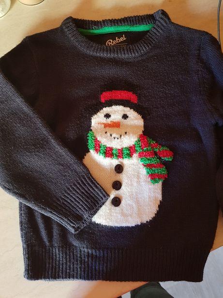 Sweterek bałwanek świąteczny Rebel