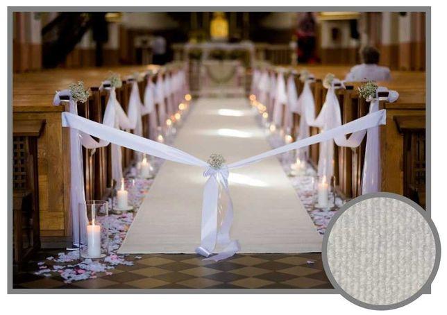Wykładzina dywan chodnik na  ślub biała kościół śnieżnobiała 1m