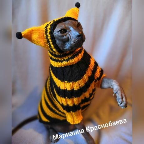 одежда для собак и котов кошек котят сфинксов свитера кофты комбинезон