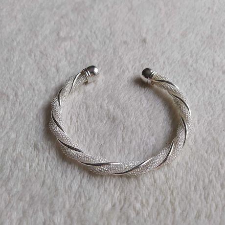 Nowa srebrna bransoletka prezent Dzień Kobiet