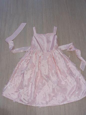 Нарядное платье на бретелях для девочки 5-7 лет
