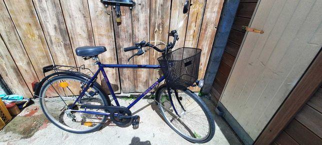 Rower z koszykiem Velo Star fioletowy