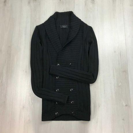 M-L Кардиган Zara однотонный вязаный пуловер кофта свитер джемпер