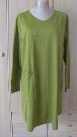 Sukienka-tunika oliwkowa rozm.46