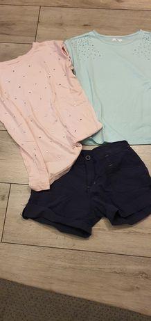Dwie bluzki i spodenki