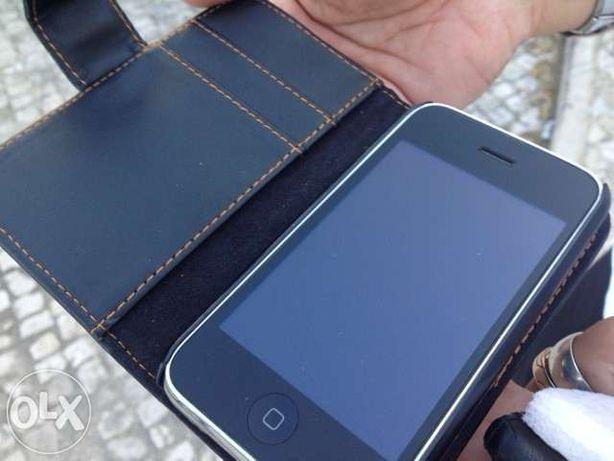 Flip case Capa tipo carteira em pele para iphone 3 e 3g em pele