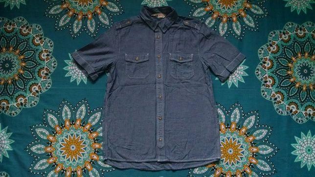 Джинсовая рубашка для мальчика 12-13 лет -H&M
