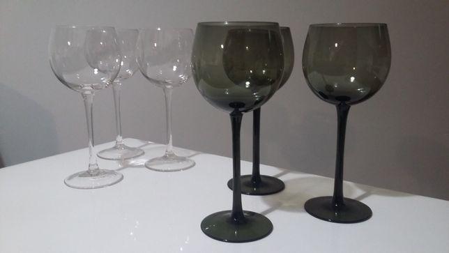 home&you stylowe kieliszki do wina wody ciemne szkło zestaw 6 szt.