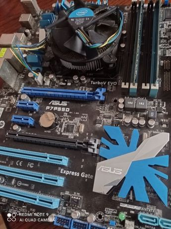 ASUS P7P55D 1156 DDR3 + i5 760 2.8Ghz + 4gb RAM