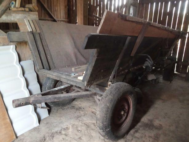 WÓZ, PRZYCZEPA, SOLIDNY, metalowy, do traktora