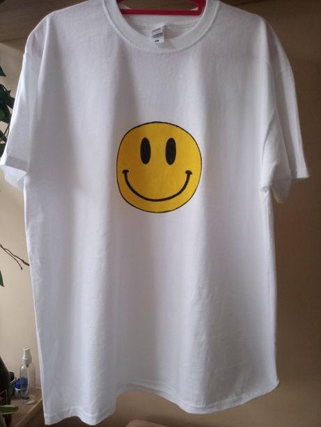 T-shirt męski ręcznie malowany