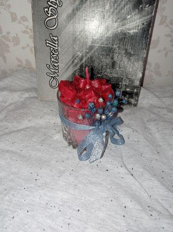 Свеча ручной работы в стакане