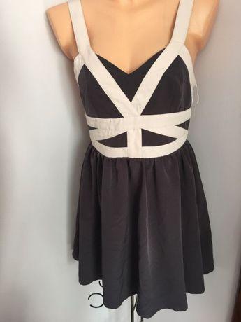 Super sukienka paski na plecach M L