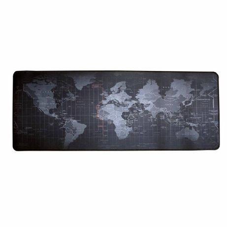 Большой игровой компьютерный коврик для мыши, мышки Карта Мира 70x30см