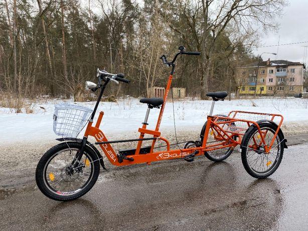 3Колеса Тандем тандемный трехколесный велосипед для взрослых и детей