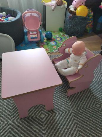 Stolik i krzesełko dla dziewczynki 1-4latka