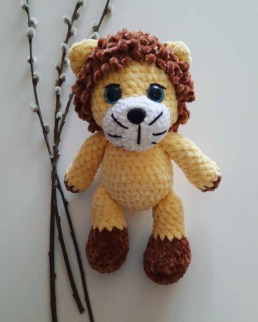 Вязаная игрушка лев,ручная работа, отличный подарок