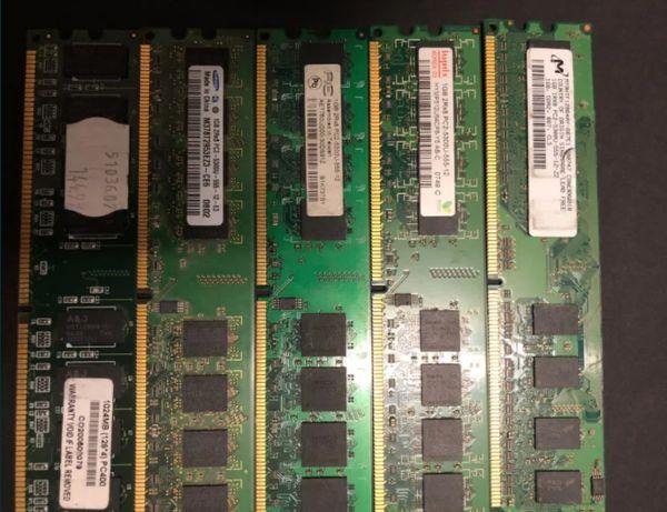 10 x Kości Ram po 1 GB DDR2 Całkowicie Sprawne