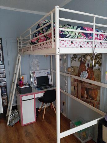 Sprzedam łóżko na antresoli IKEA