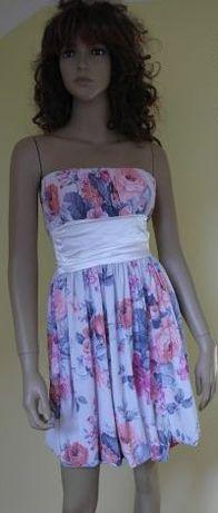 Sukienka w kwiaty r 36/S NOWA
