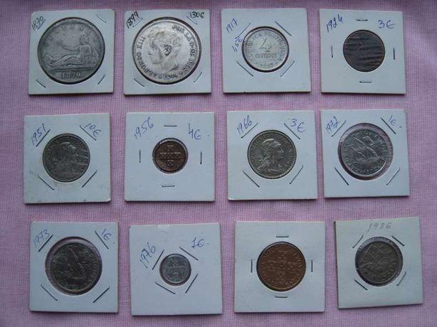 12 moedas Numismatica Coleccionismo