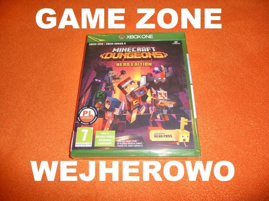Minecraft Dungeons Hero Edition Xbox One + S + X = PŁYTA PL Wejherowo Wejherowo - image 1