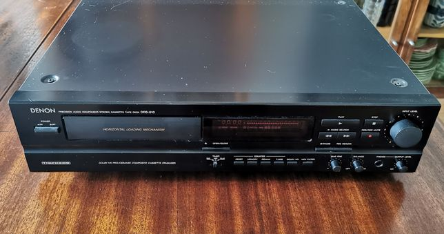 Deck Leitor Gravador Cassetes áudio Denon Drs-610